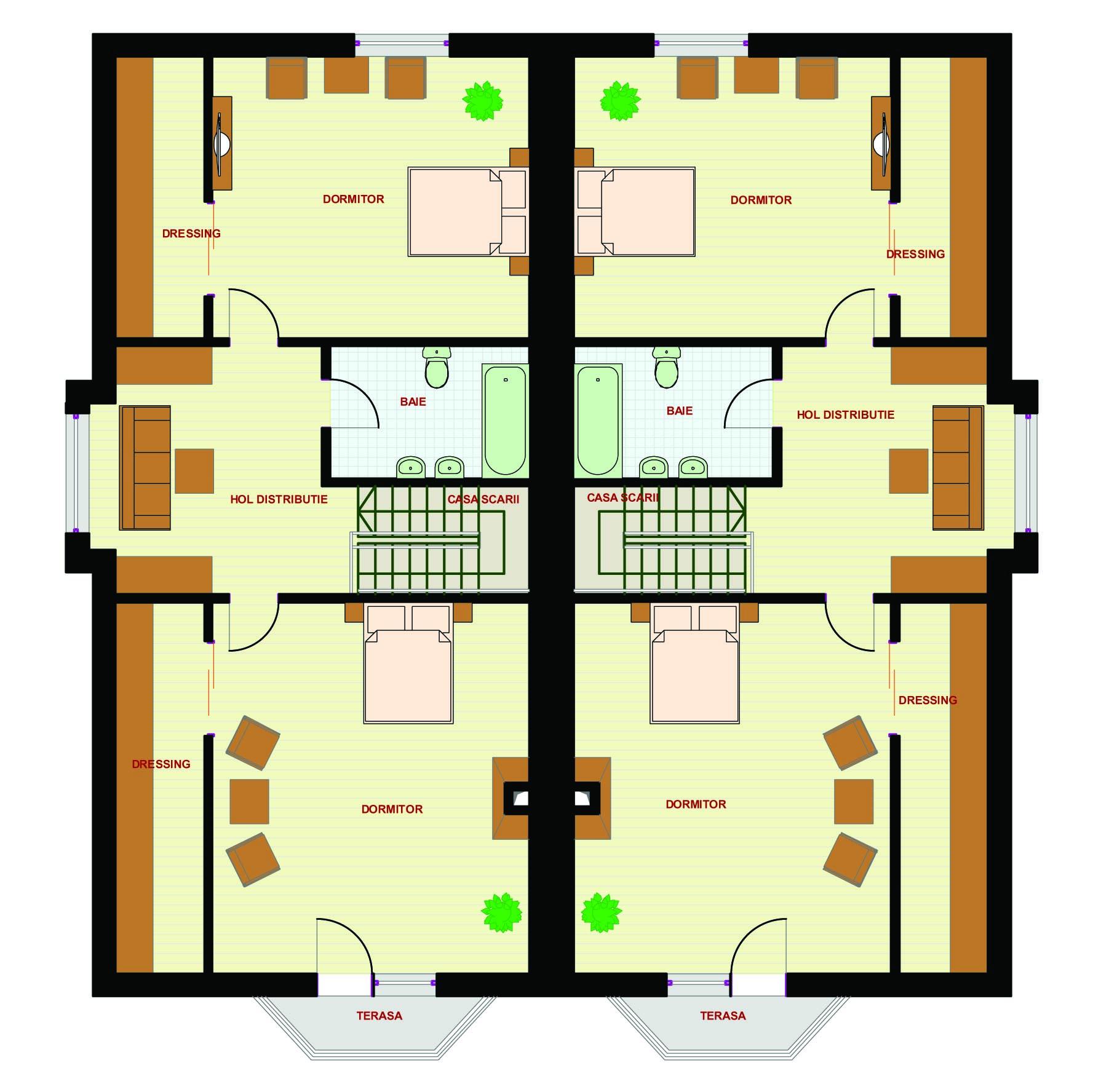 Proiect casa bianca magazinul de proiecte for Casas modernas 80 metros cuadrados