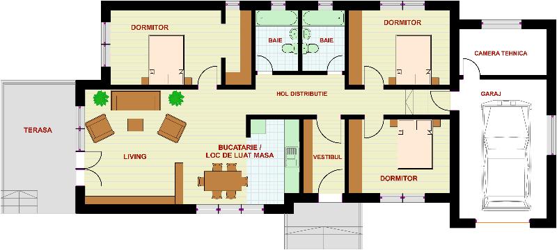 Proiect casa mihaela magazinul de proiecte for Planuri de case